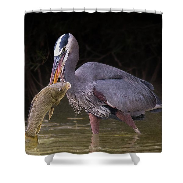 Spear Fisher Shower Curtain