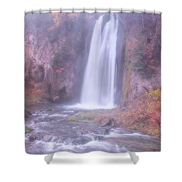 Spearfish Falls Shower Curtain