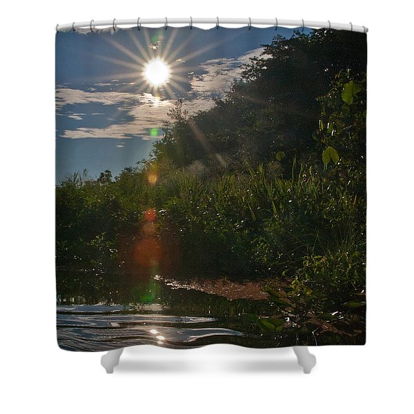 Special Effect Lens Flare  Shower Curtain