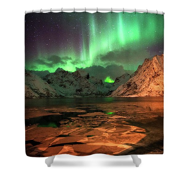 Spectacular Night In Lofoten 1 Shower Curtain