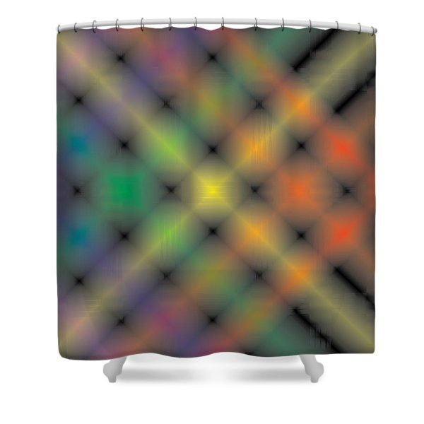 Spectral Shimmer Weave Shower Curtain