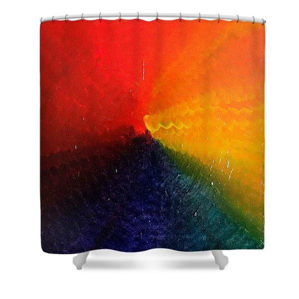 Spectral Spiral  Shower Curtain