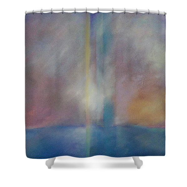 Spectral Sunrise Shower Curtain