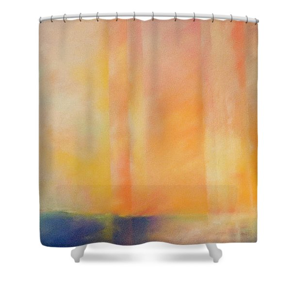 Spectral Sunset Shower Curtain