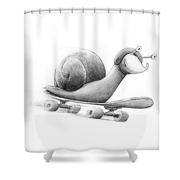 Speedy Shower Curtain