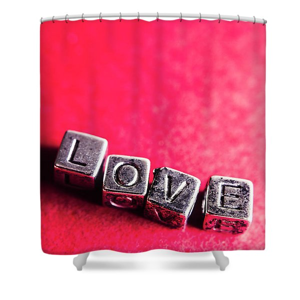 Spelling Out Love Shower Curtain