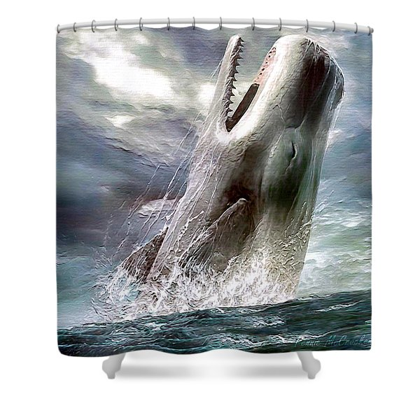 Sperm Whale Shower Curtain