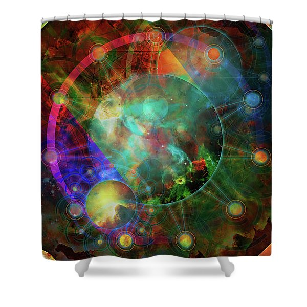 Sphere Of The Unknown Shower Curtain