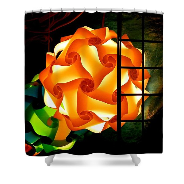 Spheres Of Light Electrified Shower Curtain