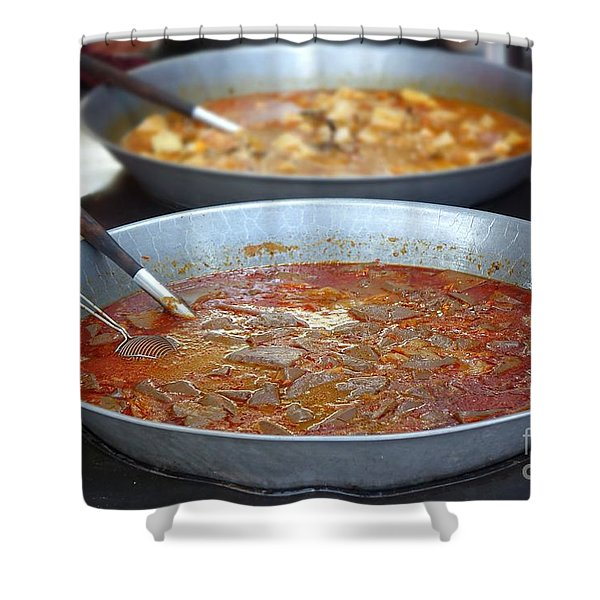 Spicy Duck Blood Soup Shower Curtain