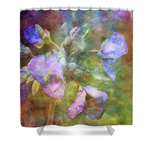 Spiderwort 1398 Idp_2 Shower Curtain