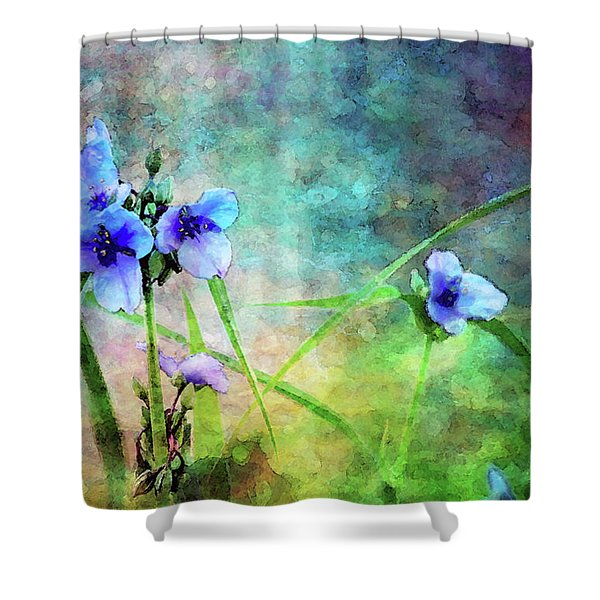 Spiderwort Dance 0115 Idp_2 Shower Curtain
