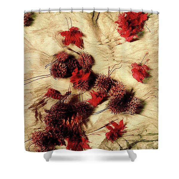 Spiked Nuts Red Shower Curtain