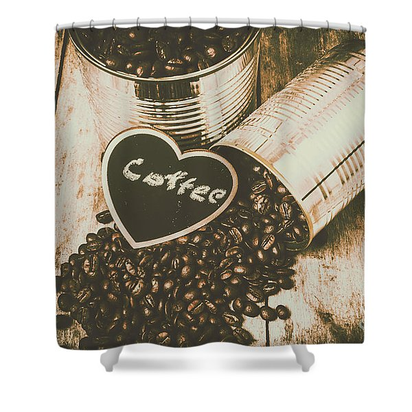 Spilling The Beans Shower Curtain