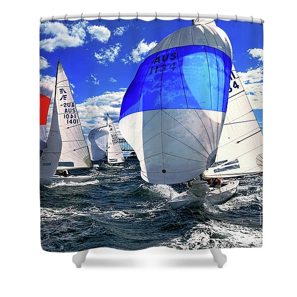 Spinnakers And Sails By Kaye Menner Shower Curtain
