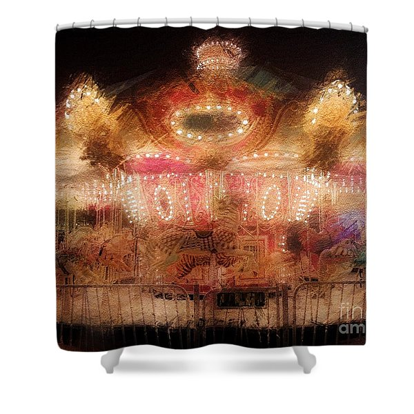 Spinning At The Speed Of Light Shower Curtain