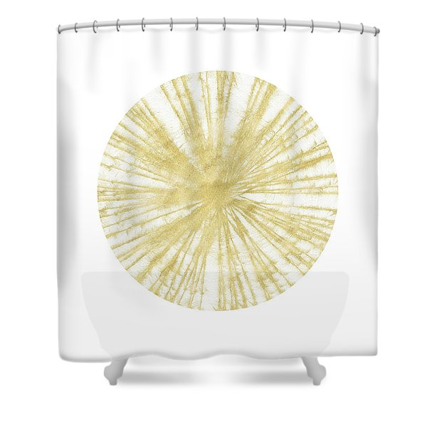 Spinning Gold Ball Art By Linda Woods Shower Curtain