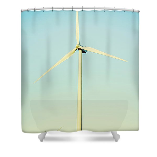 Spinning Sustainability Shower Curtain