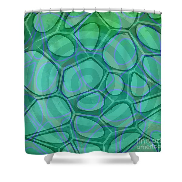 Spiral 3 - Abstract Painting Shower Curtain