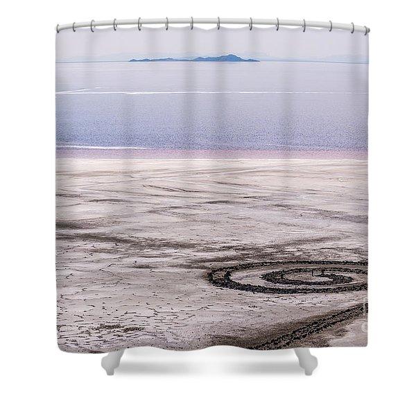 Spiral Jetty - Great Salt Lake - Utah Shower Curtain