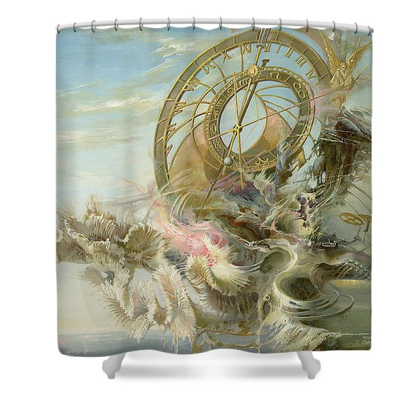 Spiral Of Time Shower Curtain