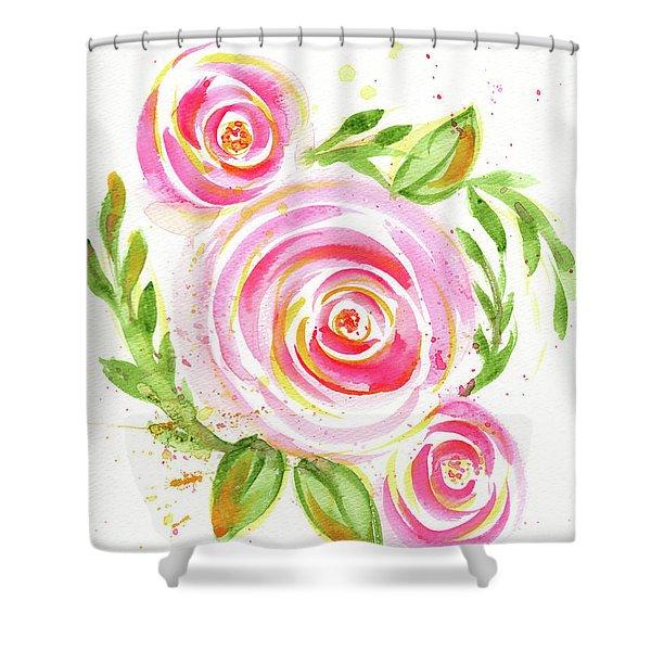 Spiral Pinks  Shower Curtain
