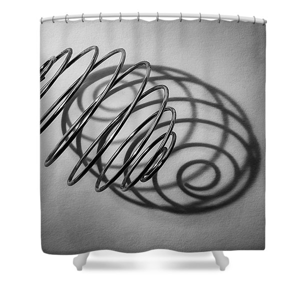 Spiral Shape And Form Shower Curtain