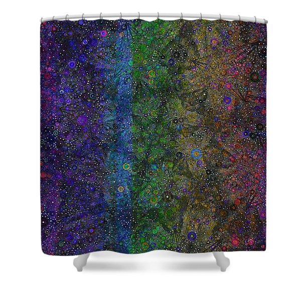Spiral Spectrum Shower Curtain