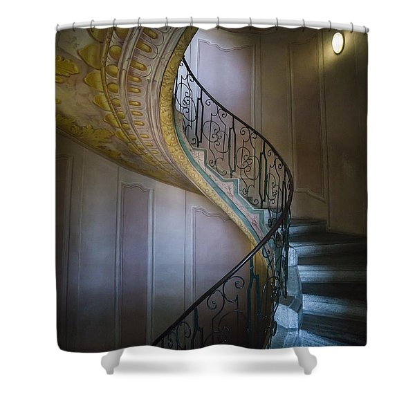 Spiral Staircase Melk Abbey II Shower Curtain