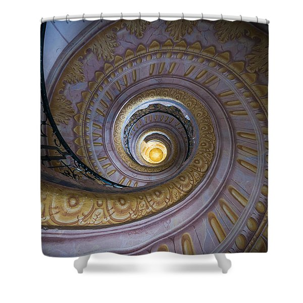 Spiral Staircase Melk Abbey IIi Shower Curtain