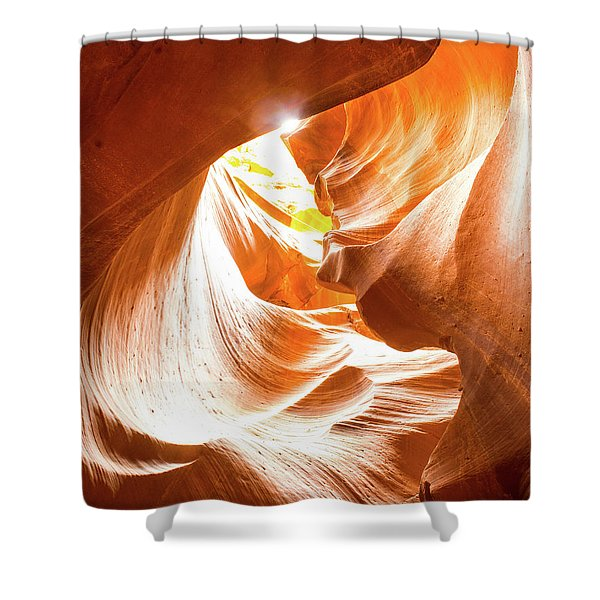 Spiral To The Sun Shower Curtain
