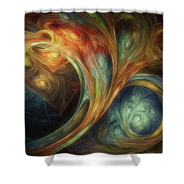 Spiralem Ramus Shower Curtain