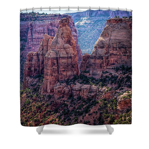 Spires And Mesa Country Shower Curtain