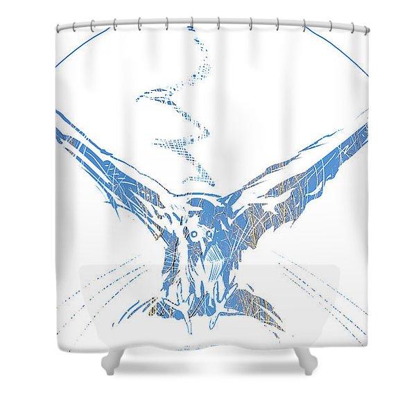 Spirit Animal . Crow Shower Curtain