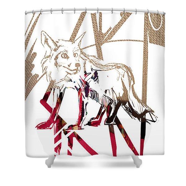 Spirit Animal . Fox Shower Curtain