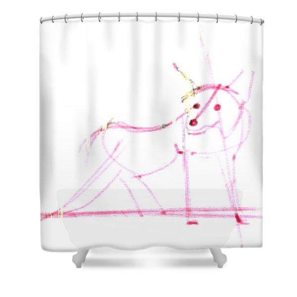Spirit Animal . Ghost Fox Shower Curtain