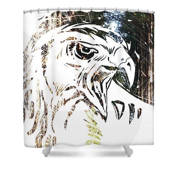 Spirit Animal . Hawk Shower Curtain