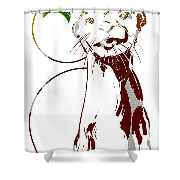 Spirit Animal . Otter Shower Curtain