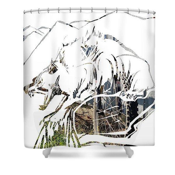 Spirit Animal . Wolverine Shower Curtain