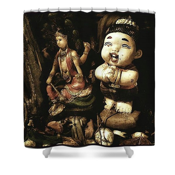 Shower Curtain featuring the photograph Spirit Cemetery. When A Business Or by Mr Photojimsf