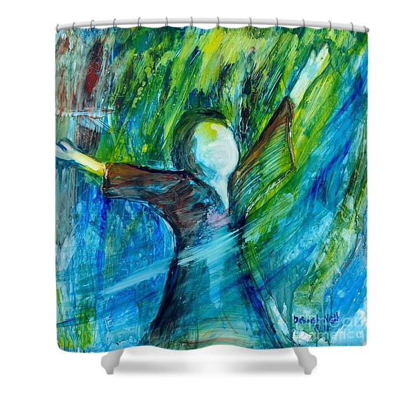 Shower Curtain featuring the painting Spirit Move by Deborah Nell