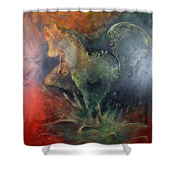 Spirit Of Mustang Shower Curtain