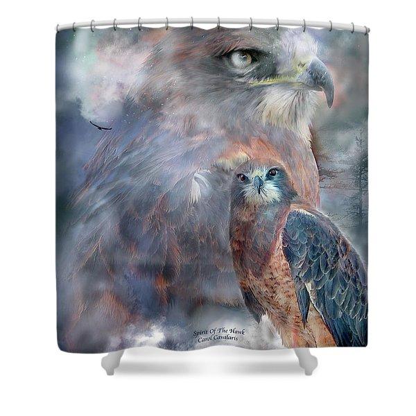 Spirit Of The Hawk Shower Curtain