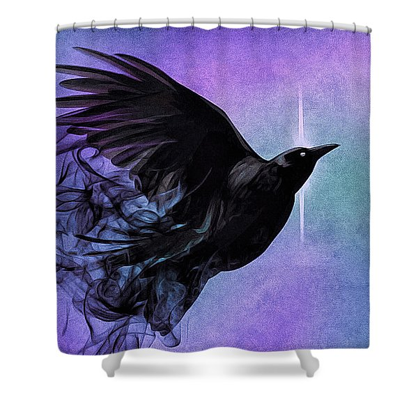 Spirit Raven Shower Curtain