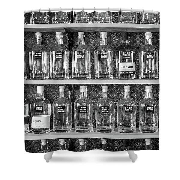Spirit World Bottles Shower Curtain