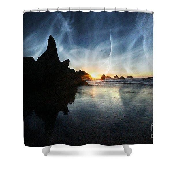 Spirits At Sunset Shower Curtain