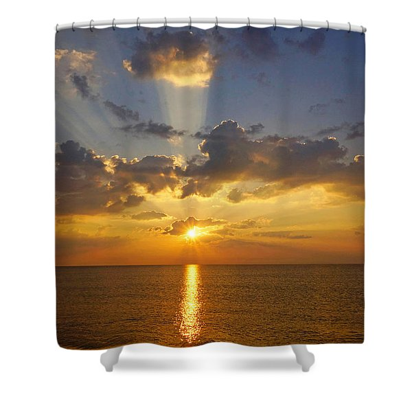 Spiritual Sunrise Shower Curtain