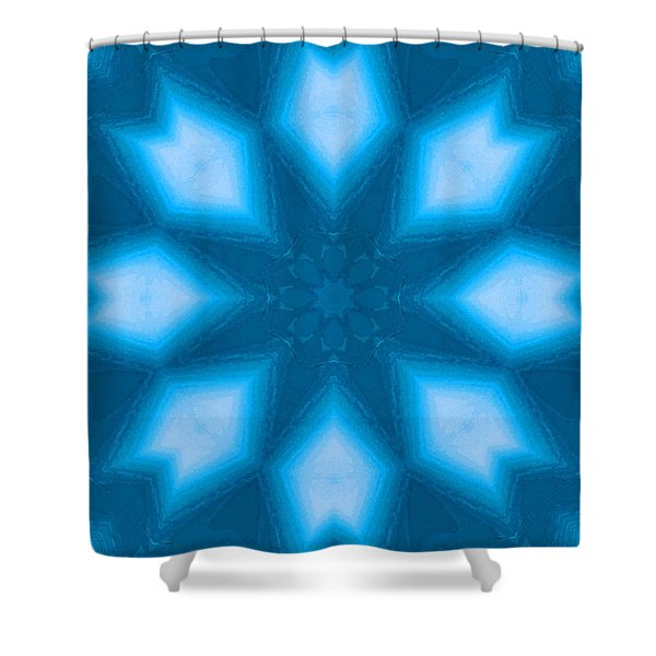 Shower Curtain featuring the digital art Spiro #2 by Writermore Arts