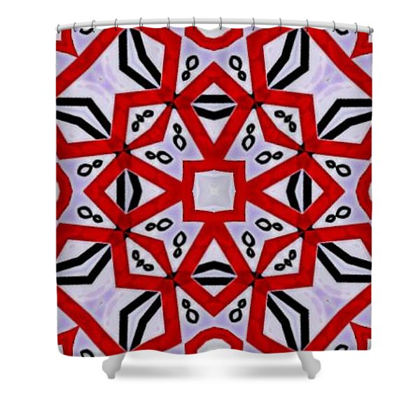 Shower Curtain featuring the digital art Spiro #3 by Writermore Arts