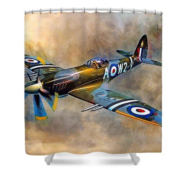 Spitfire Dawn Flight Shower Curtain